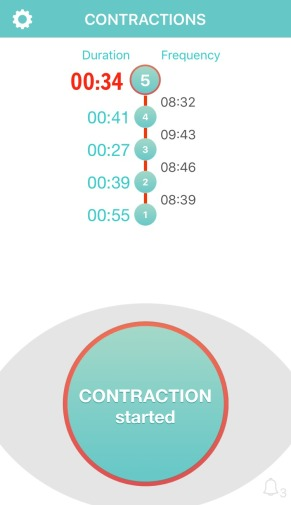 contraction-timer